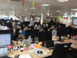 GDS team and their bunting