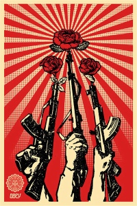 Roses in guns - my kind of secret weapon!
